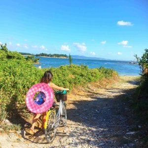 佐久島で自転車のレンタルができる